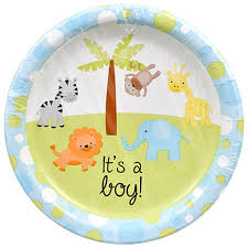bulk its a boy paper plates 9 in 18 ct packs at