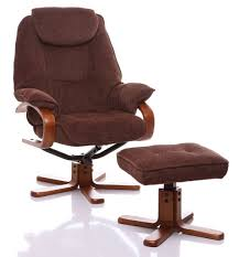 furniture chocolate fabric swivel recliner chair and ottoman