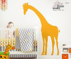 Giraffe Wall Decals For Nursery Large Peeking Giraffe Wall Decal For Nursery Baby Room