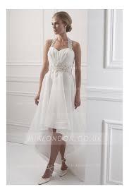 hem wedding dress asymmetrical hem lace appliques haler wedding dress