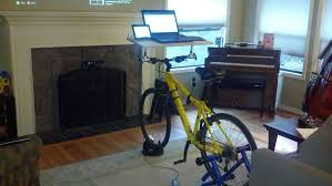 Diy Bike Desk Handlebar Desk In 20 Minutes 4 Steps With Pictures
