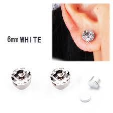 6mm stud earrings new hot mens earrings 2015 fashion alloy 6mm stud earring trendy