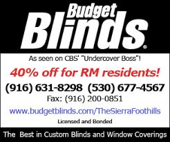 Budget Blindes Budget Blinds Ranchomurieta Com Rancho Murieta News Homes