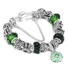 snake chain charm bracelet images Spinner silver plated charm bracelet for women snake chain jpg