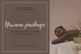 brown modern massage gift certificate templates by canva