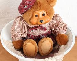 wooden faced teddy bears vintage teddy etsy