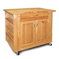 chris and pro stadium kitchen cart with butcher block top jet
