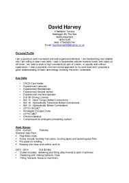 Pta Resume David Harvey Cv