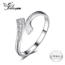 925 sterling silver v shaped heart promise ring size 5 6 7 8 9 10 jewelrypalace row wrap wedding promise ring for women