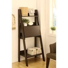 dark brown computer desk furniture stunning ladder shelf computer desk design dark brown