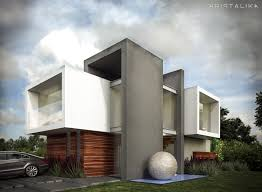cf house architecture modern facade contemporary house
