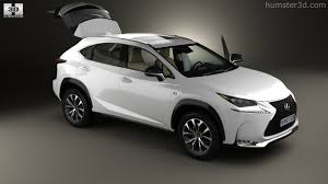 white lexus nx f sport 360 view of lexus nx f sport with hq interior 2014 3d model