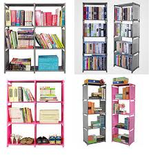3 tier cube plastic bookcase storage shelf home creative display