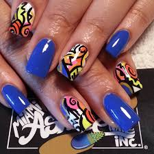 memphis learn this abstract art from thenailpicasso nail art