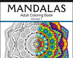 mandala coloring etsy