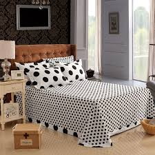 Polka Dot Comforter Queen Aliexpress Com Buy Cotton Black And White Polka Dot Bedding Sets