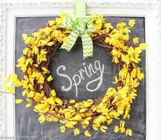 whimsical spring forsythia wreath jenna burger five minute dollar store diy spring easter wreath dollar stores
