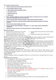 Pta Resume Telecommunications Policies Standards And Regulations Notes