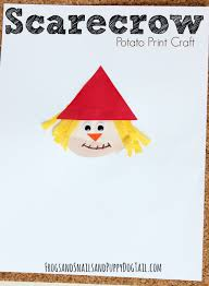 scarecrow potato print craft fspdt