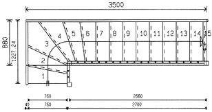 treppen rechner grundrisse für treppen mit 1 4 wendung planungshilfen und grundrisse