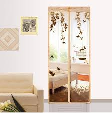 Magic Mesh Curtain Anti Mosquito Curtains Floral Print Curtains Screen Door Magnetic