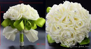 wedding supplies cheap fashion foam flowers wedding bouquets cheap artificial