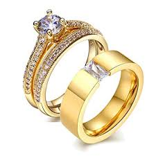 couples rings gold images Loversring his and hers wedding ring sets couples jpg