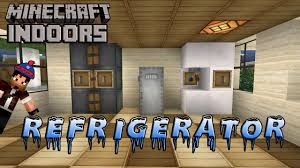 how to build a refrigerator minecraft indoors kitchen tutorial