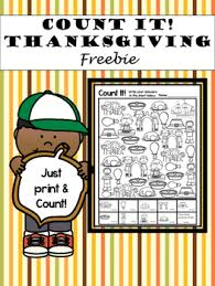 thanksgiving count it freebie by children books tpt