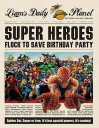 a superhero birthday party part 1 save the day themotherboards