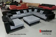 5pc modern gray microfiber big sectional sofa set s150rg ebay