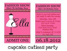 Custom Invites Fashion Show Custom Birthday Invitation Digital File You Print