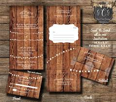 send and seal wedding invitations 25 rustic wood seal and send invitations seal and send wedding