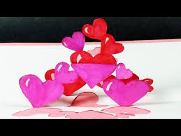 how to make a tangled hearts pop up card free template