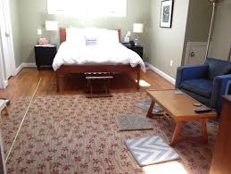 bedroom 1 large area rug or 2 area rugs