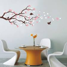 cherry blossom tree with birds wall mural wall decals