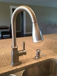 moen one touch kitchen faucet best touchless kitchen faucet moen 7594esrs one handle pulldown