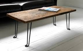 How To Make Reclaimed Wood Coffee Table Diy Plank Wood Coffee Table With Hairpin Legs Via Hindsvikathome