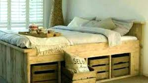 Assemble King Size Bed Frame Pallet Bed With Storage King Size Pallet Bed Frame