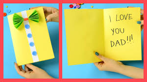 father u0027s day card fun crafts for kids youtube
