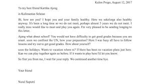 contoh surat pribadi untuk sahabat teman dan keluarga