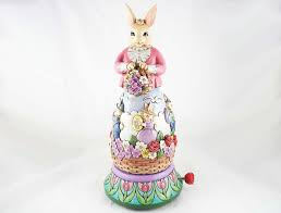 jim shore easter eggs easter s on its way easter bunny rotating musical figurine