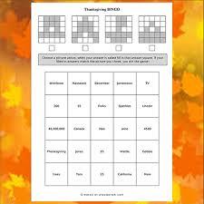 free thanksgiving bingo play q and a