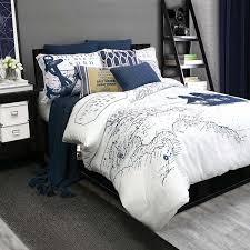 com alamode home shelburne queen full duvet cover set navy white nautical home kitchen
