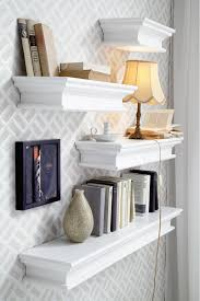 White Floating Wall Shelves by Glamorous Floating Wall Shelves White Pictures Ideas Andrea Outloud