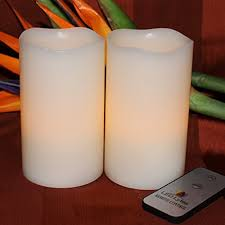 led lytes flameless candles battery operated pillar w remote set