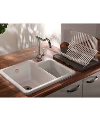White Ceramic Kitchen Sink 1 5 Bowl Abode Matrix Cr25 White Ceramic Left Bowl 1 5 Kitchen Sink