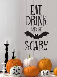 amazon com bibitime halloween vinyl bat decal for wall sticker