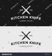 vintage vector logo kitchen knife black stock vector 260503526