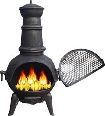Cooking On A Chiminea Black Bronze 85cm Cast Iron Steel Chimnea Patio Heater Cooking